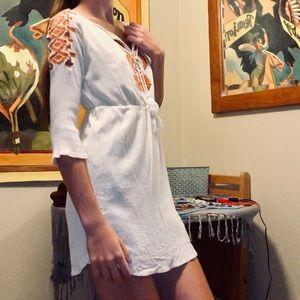 Solitaire Boho White Dress